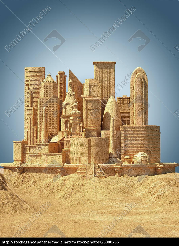 city, sandcastle - 26000736