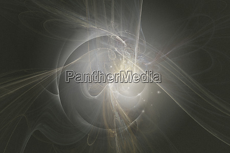 abstract glowing light trails