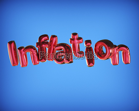 balloons in letters that spell inflation