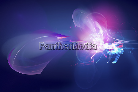 abstract glowing colorful swirls