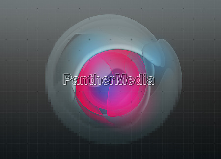abstract glowing pink neon shape in