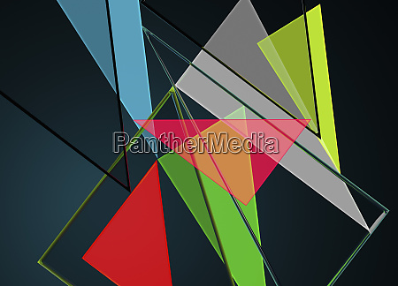 multi coloured triangles in abstract backgrounds
