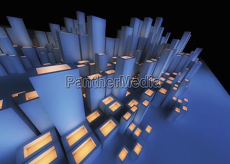 abstract futuristic city architecture