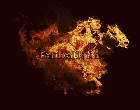 flames in shape of racehorse and