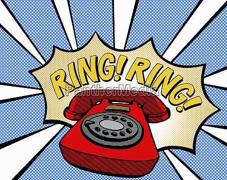 old fashioned phone ringing