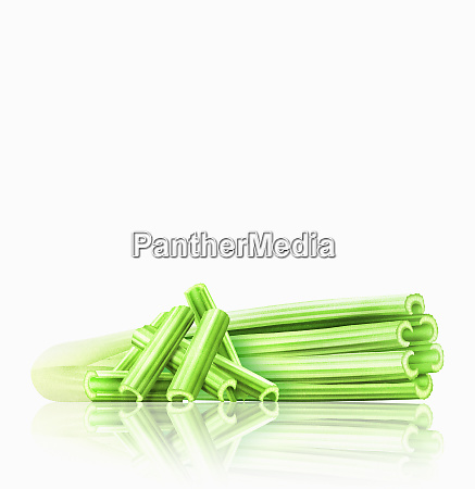 head of celery with celery sticks