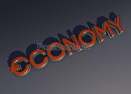 single word economy with euro symbol
