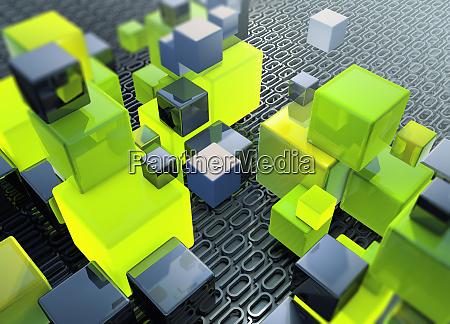 stacks of building blocks on top