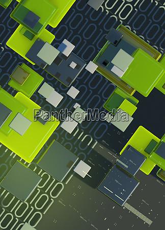 blocks binary code data and computer