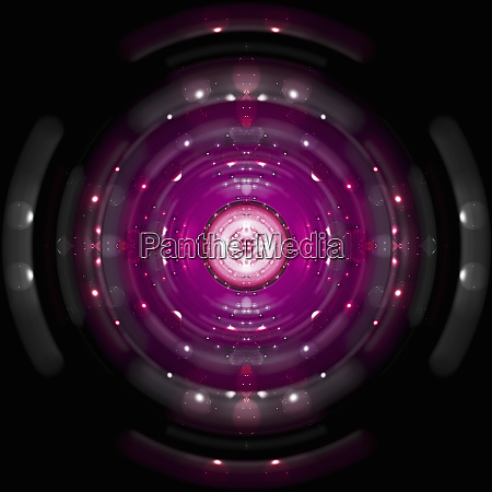 bright pink symmetrical pattern of spheres