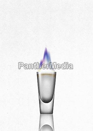 flaming shot glass