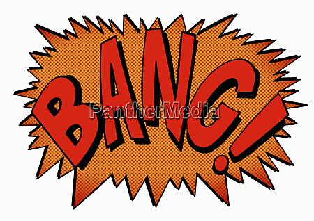 bang comic book text sound effect