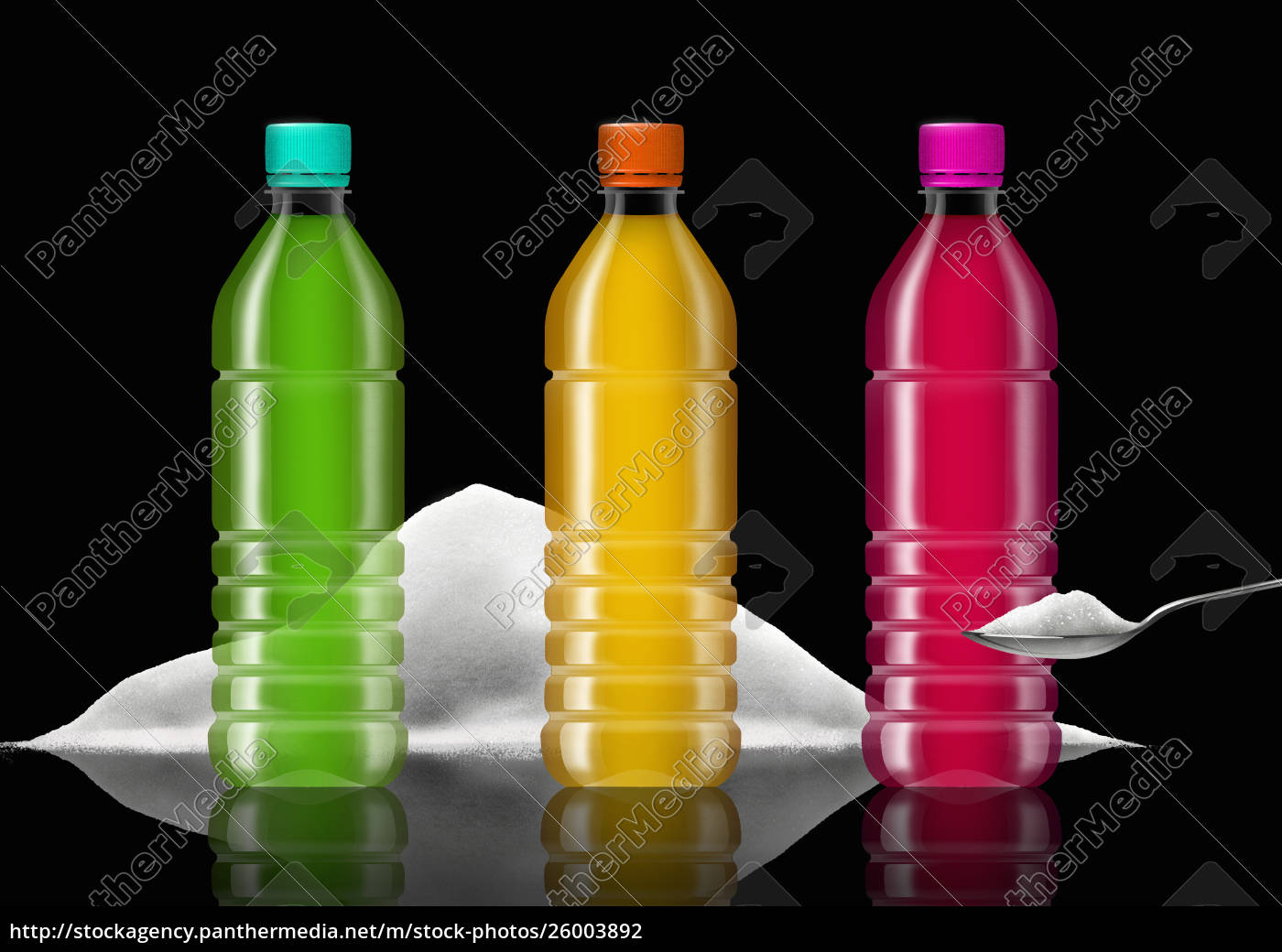 row, of, brightly, colored, soft, drink - 26003892