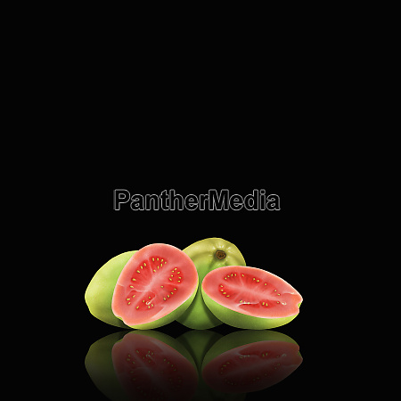 whole, and, cut, guavas - 26003052