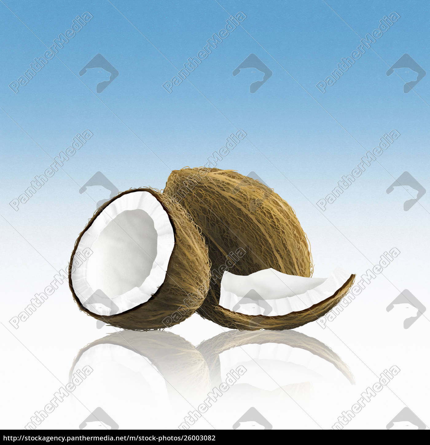 whole, coconut, with, pieces - 26003082