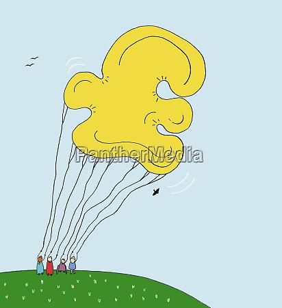 large pound symbol balloon