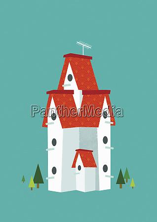 tall birdhouse