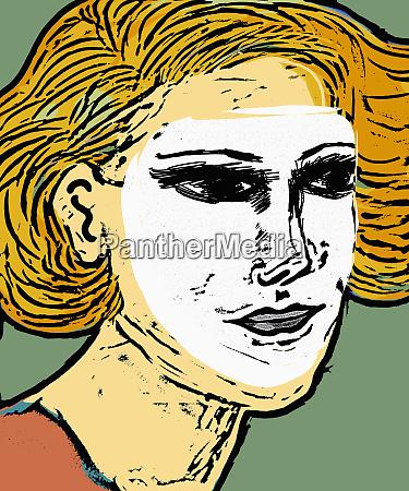woman wearing mask