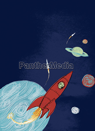 rockets in outer space