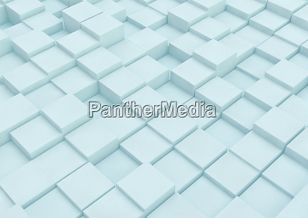 uneven surface with building blocks of