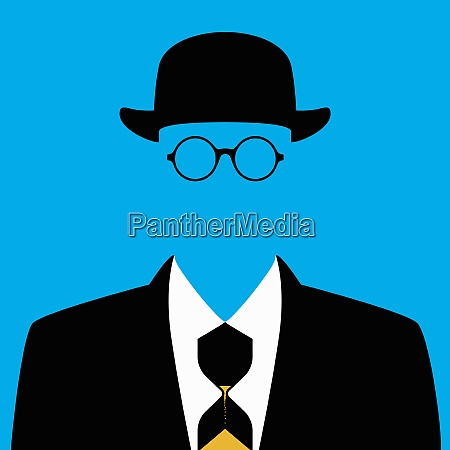 close up of faceless businessman with