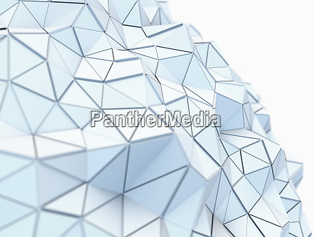 curving textured low poly surface of