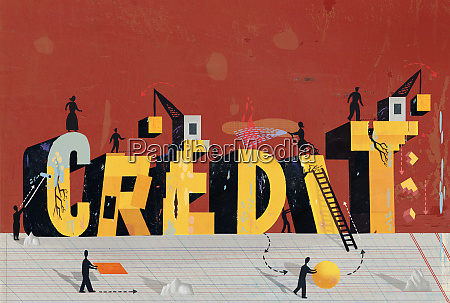 people rebuilding credit text