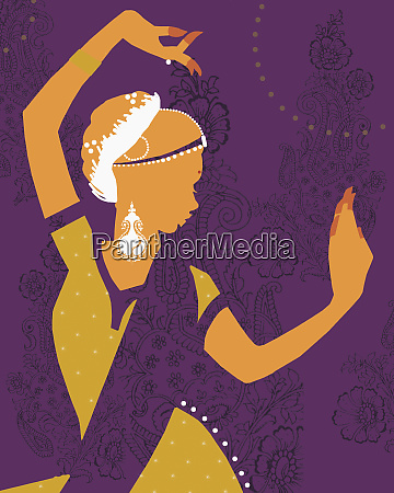 female middle eastern dancer