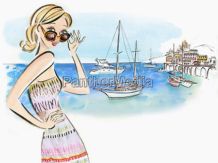 woman on vacation