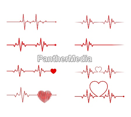 heart rhythm set electrocardiogram ecg