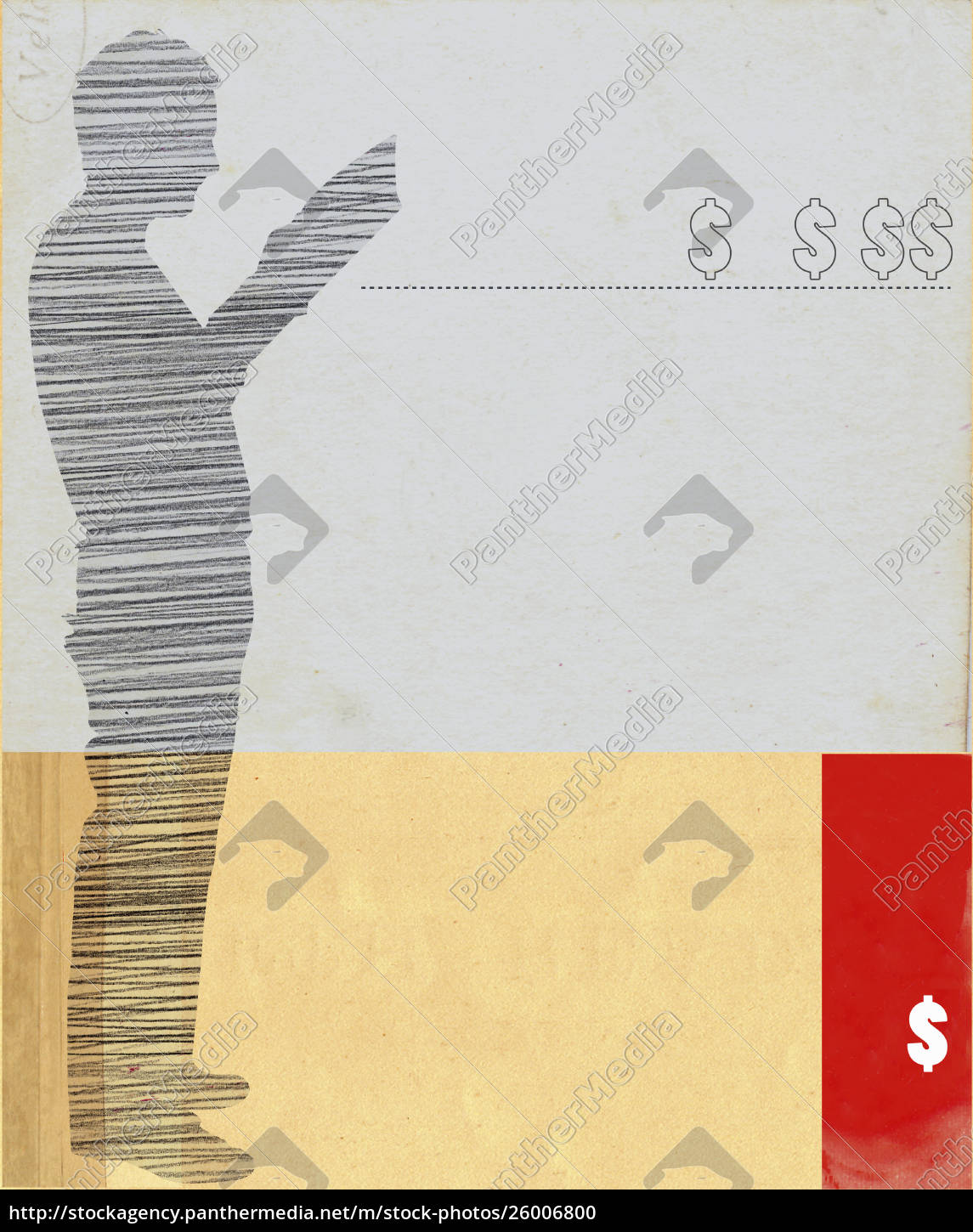 silhouette, of, man, reading, and, dollar - 26006800