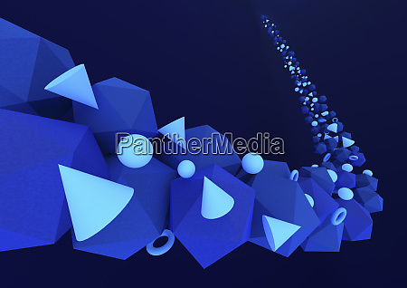 abstract pattern of three dimensional geometric