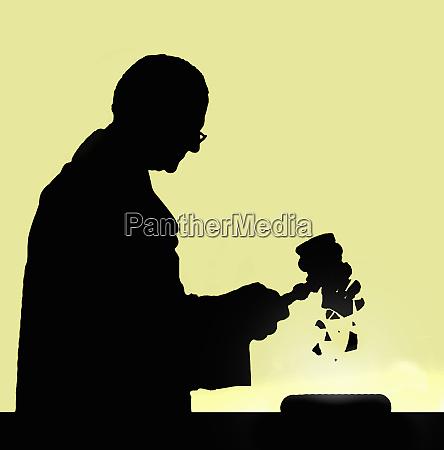 judge using breaking gavel