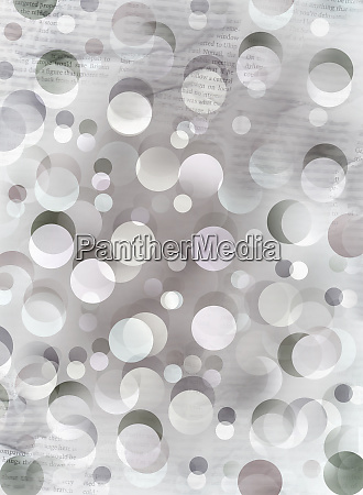 abstract backgrounds pattern of overlapping circles