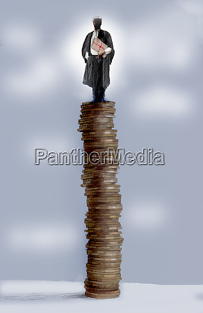 barrister standing on top of tall