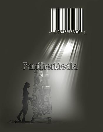 light beams through bar code prison