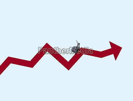 snail, crawling, along, line, graph, arrow - 26008462