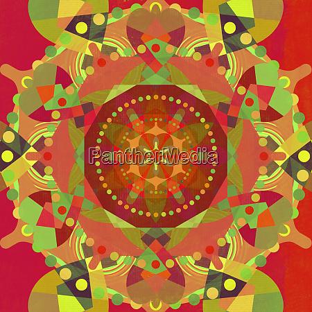 multicolored kaleidoscope abstract