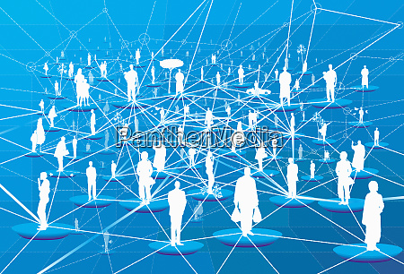 lots of people connected in network