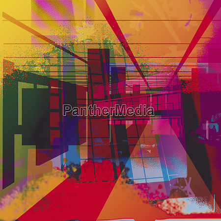 multicolored abstract of structures