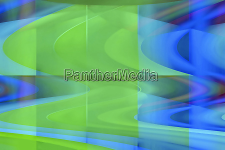 abstract green and blue wavy backgrounds