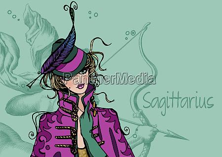 portrait of sagittarius woman zodiac sign