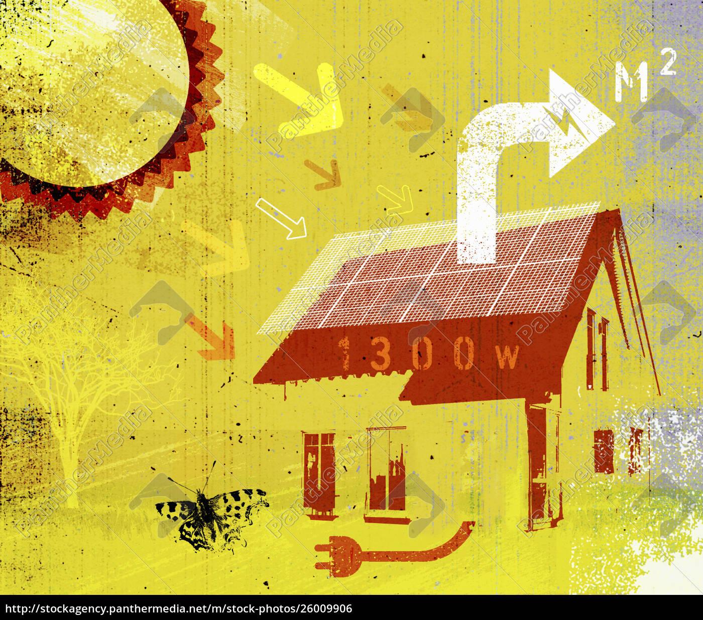 sun's, rays, on, solar, panels, of - 26009906