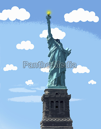 statue of liberty with head in