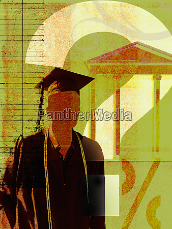 graduate with question mark and banking