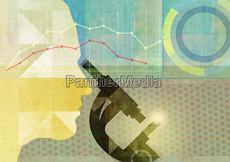 multi layered collage of medical research