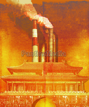 air pollution from power station chimneys