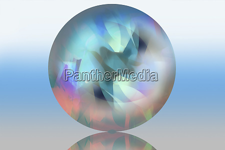 pastel abstract pattern inside of translucent
