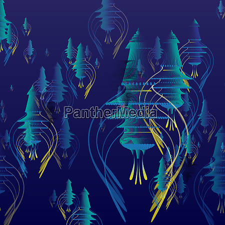 abstract backgrounds pattern of blue decorations