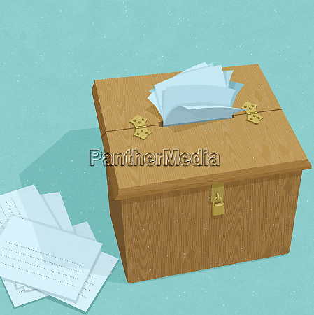 suggestion box overflowing with ideas